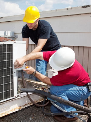 Men doing an air conditioning installation in Tempe, AZ